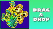 Butterfly Drag & Drop Puzzle
