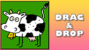 Cow Drag & Drop Puzzle