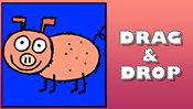 Pig Drag & Drop Puzzle
