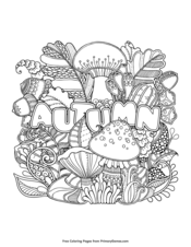 fall zentangle coloring pages | Fall Coloring Pages | Printable Coloring eBook - PrimaryGames