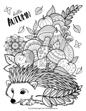 Autumn Zentangle