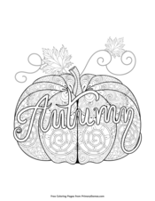 Autumn Pumpkin Zentangle