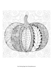 Zentangle Pumpkin with Background