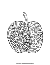 Apple Zentangle