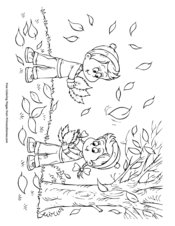 Fall Coloring Pages EBook Scarecrow