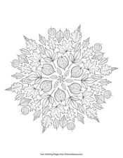 Leaves Mandala