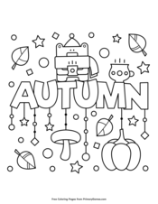 November Coloring Page Free Printable Pdf From Primarygames