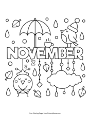 november - Fall Coloring Pages Free