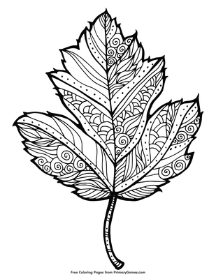 Maple Leaf Coloring Page Free Printable Pdf From Primarygames