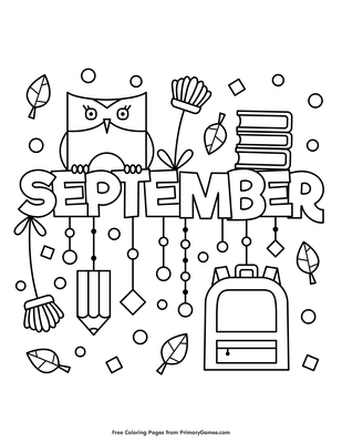 photograph about Fall Printable Coloring Pages titled September Coloring Web page Printable Slide Coloring guide