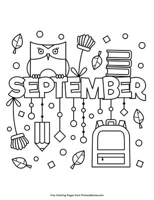 Get Preschool September Coloring Pages
