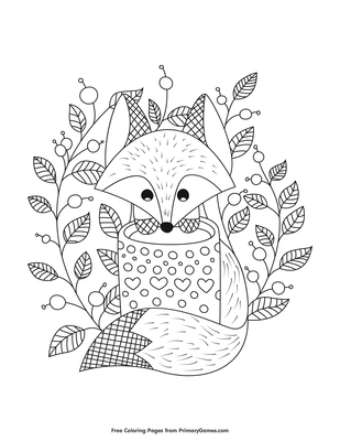 It's just an image of Fall Coloring Pages Printable intended for complex