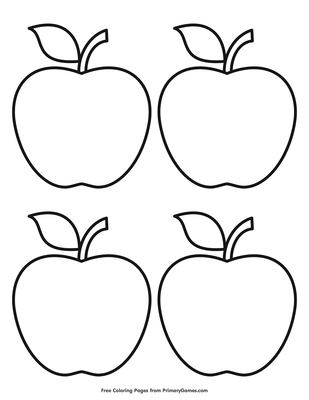 Top 30 Apple Coloring Pages For Your Little Ones | 400x309