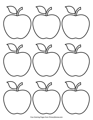This is a graphic of Printable Apples intended for blank