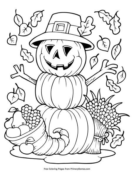Scarecrow Coloring Pages Printables - Get Coloring Pages | 590x456