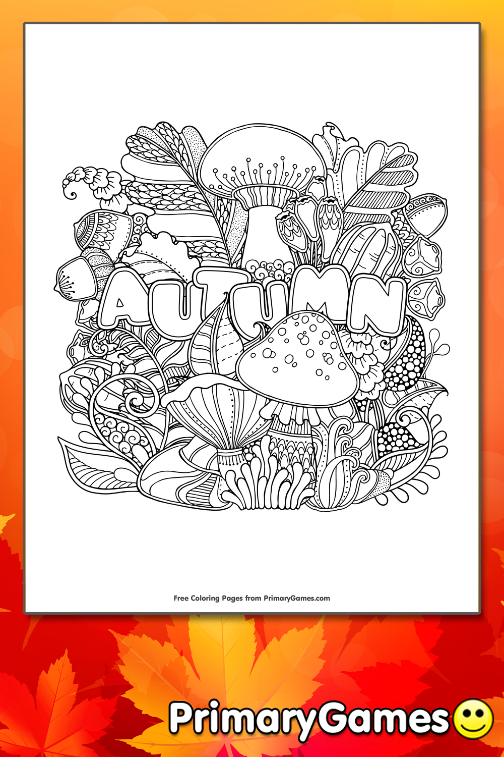 Autumn Coloring Page | Printable Fall Coloring eBook ...