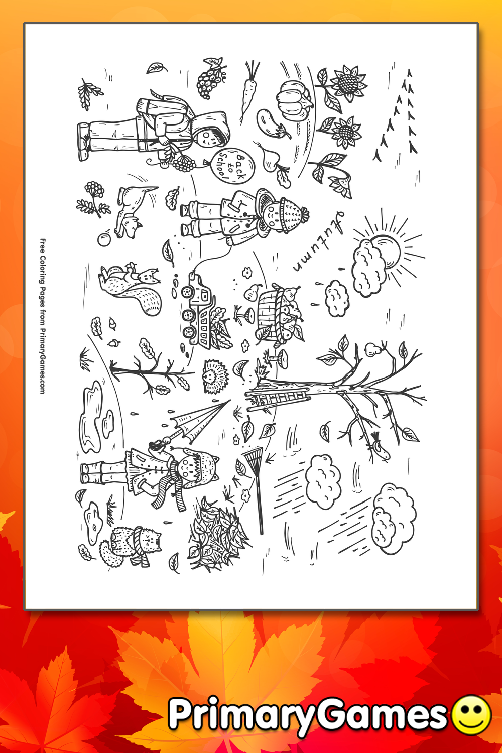 fall scenes coloring pages - photo#10