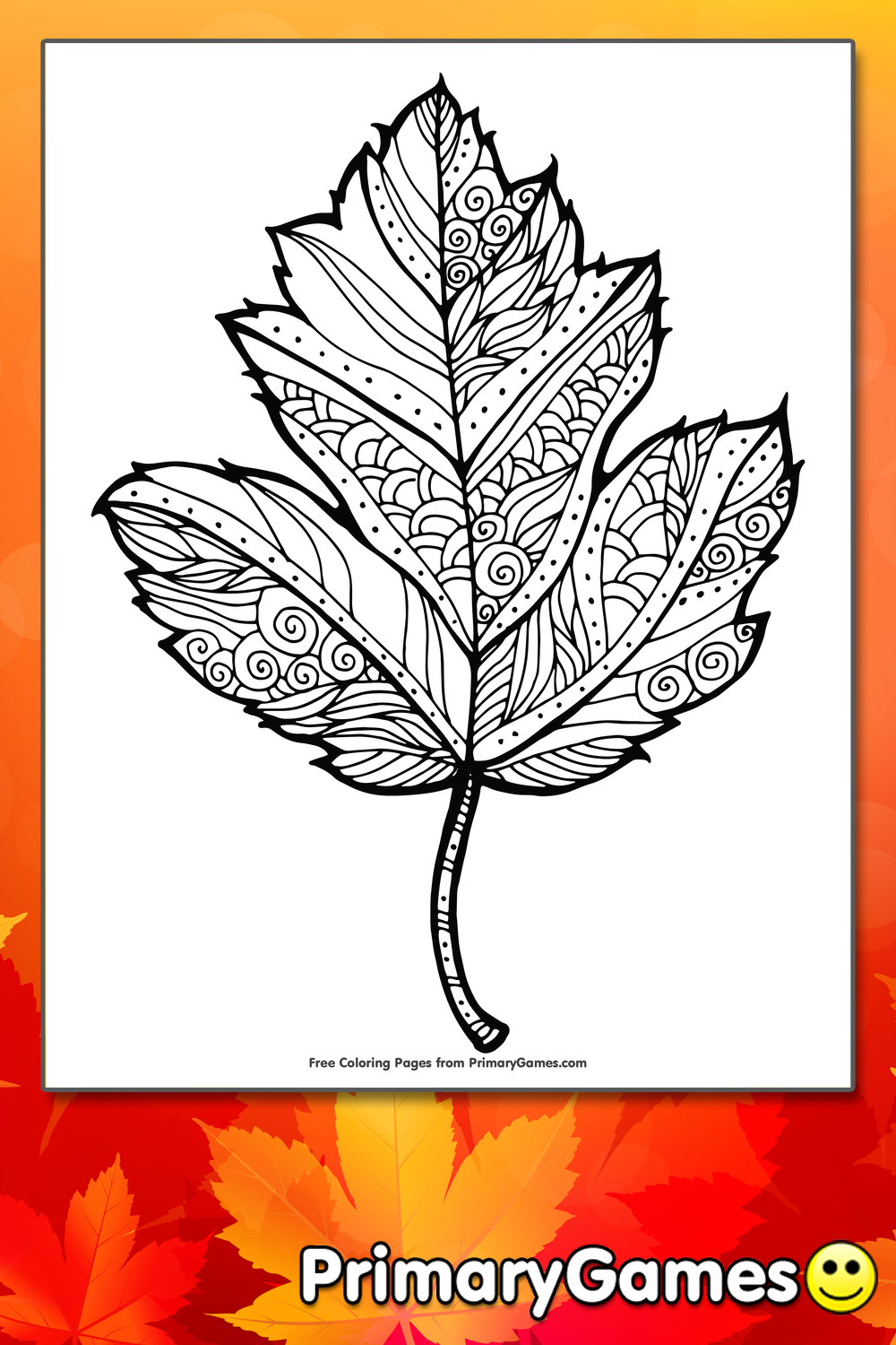 Maple Leaf Coloring Page Printable