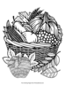 Zentangle Apples in Basket