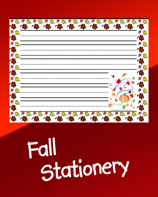 Fall Stationery PrimaryGames