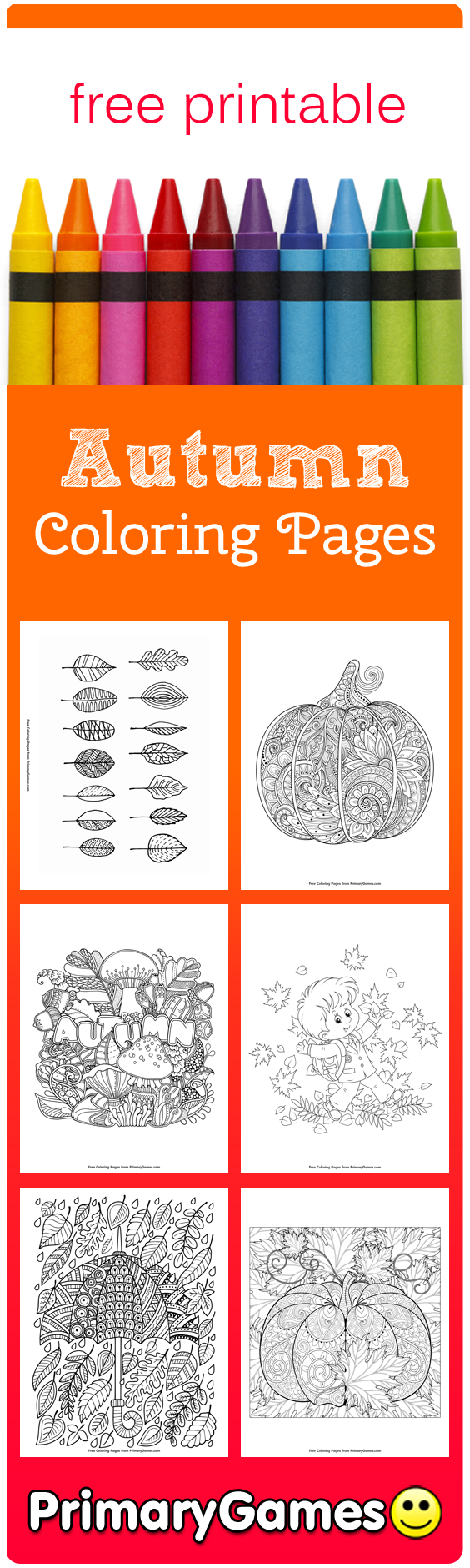 fall coloring pages primarygames play free online games