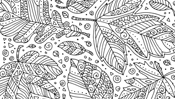 New Zentangle Coloring Pages