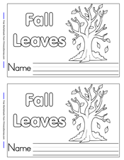 Fall Leaves Mini Book