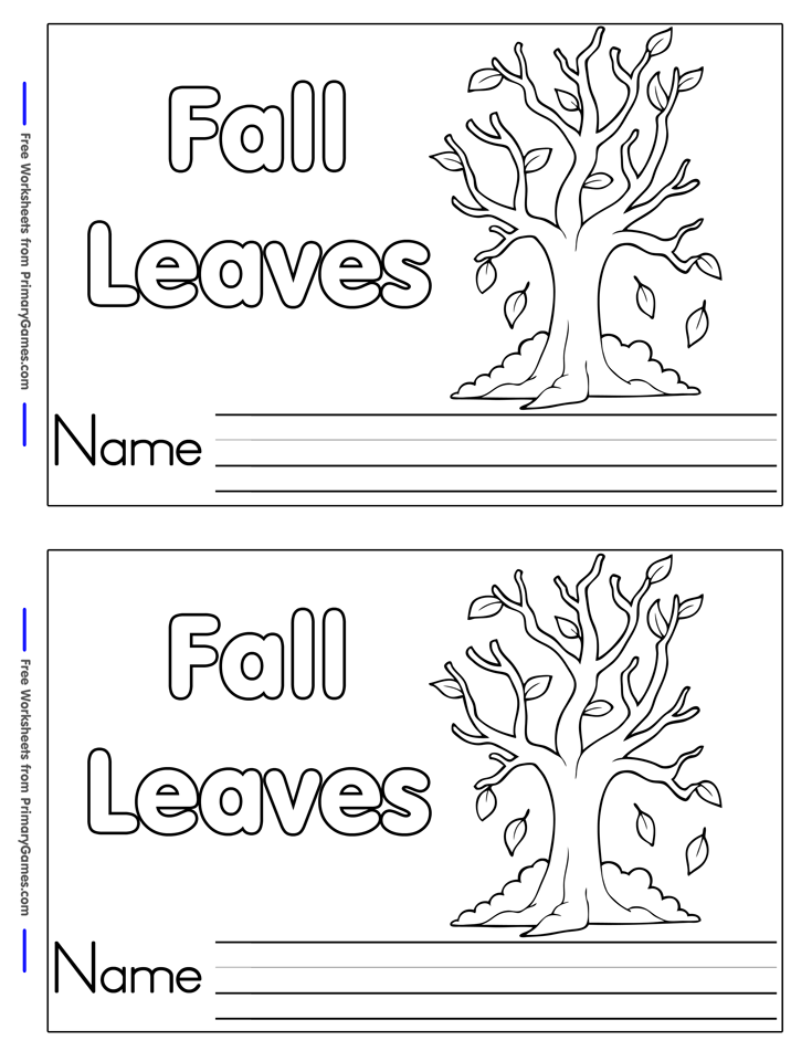 Fall Worksheets Fall Leaves Mini