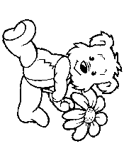 Teddy Bear With Flower