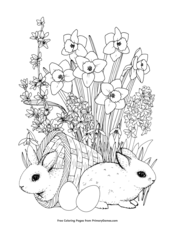 Bunnies and Spring Flowers
