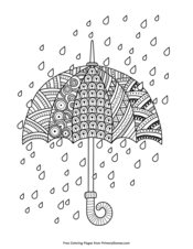 Rain Drops with Umbrella