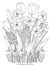 Spring Coloring Pages Free Printable Pdf From Primarygames