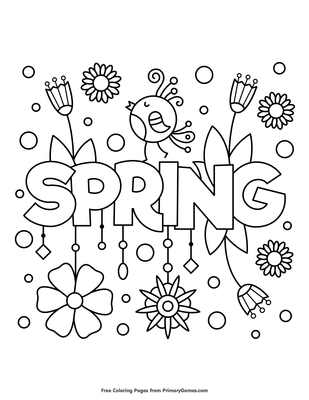 Spring Coloring Page • Free Printable Coloring Books