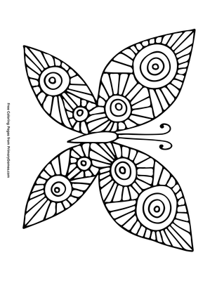 Butterfly Coloring Page | Printable Spring Coloring eBook ...
