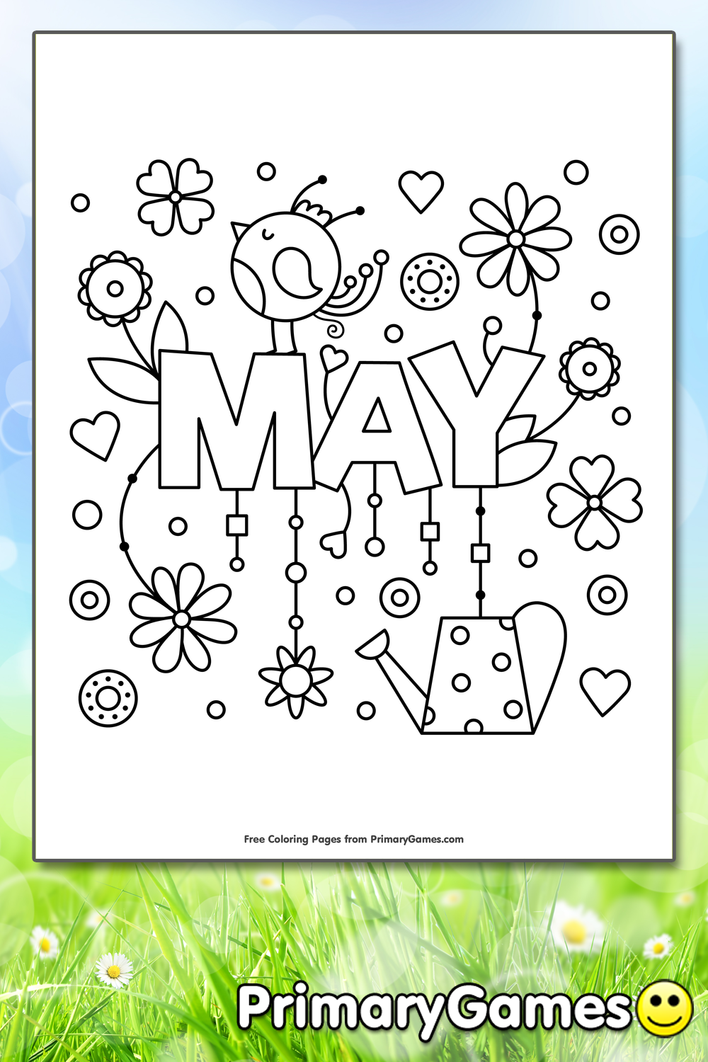 May Coloring Page Free Printable Pdf From Primarygames