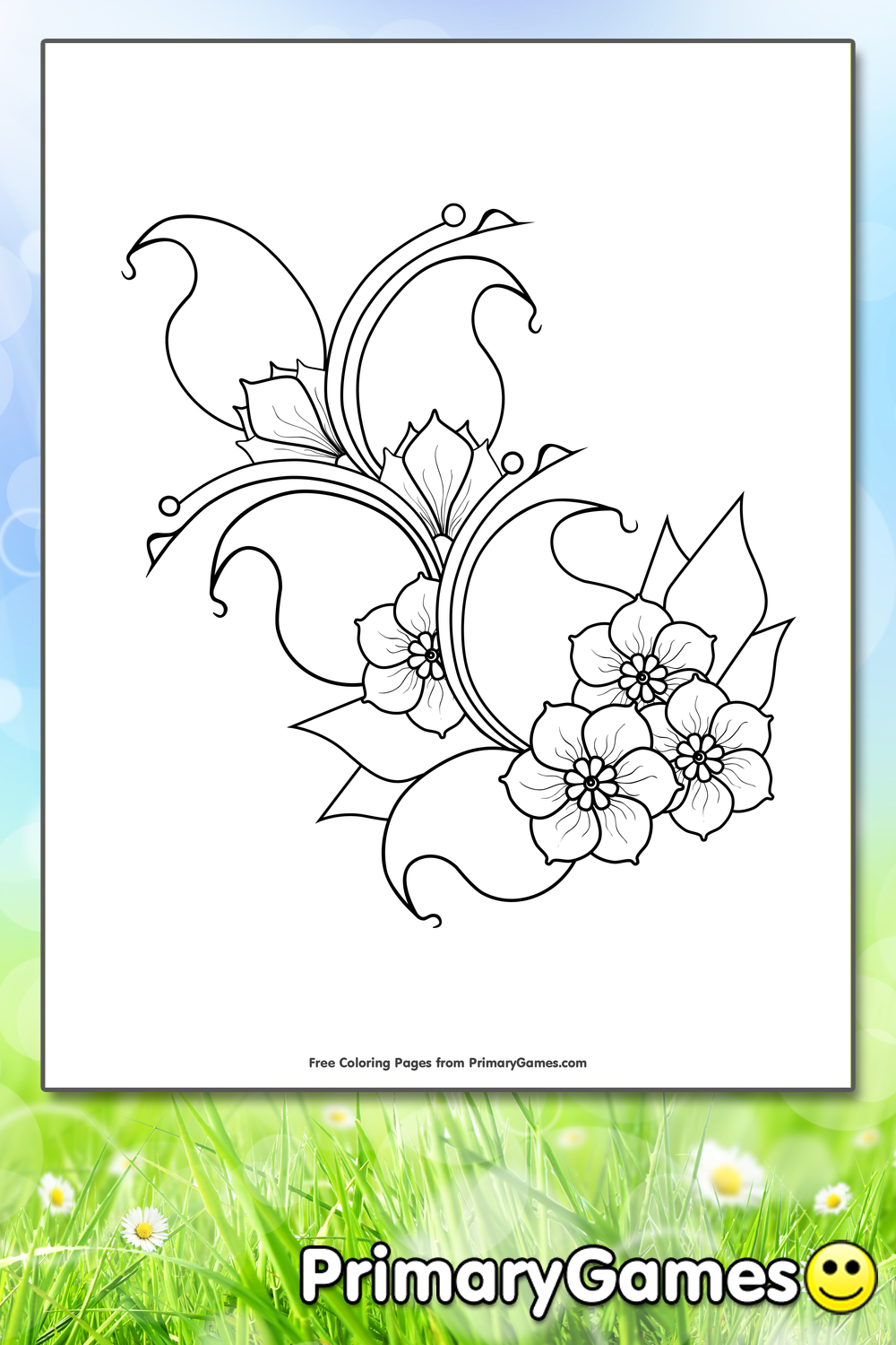 Cherry Blossoms Coloring Page | Printable Spring Coloring ...