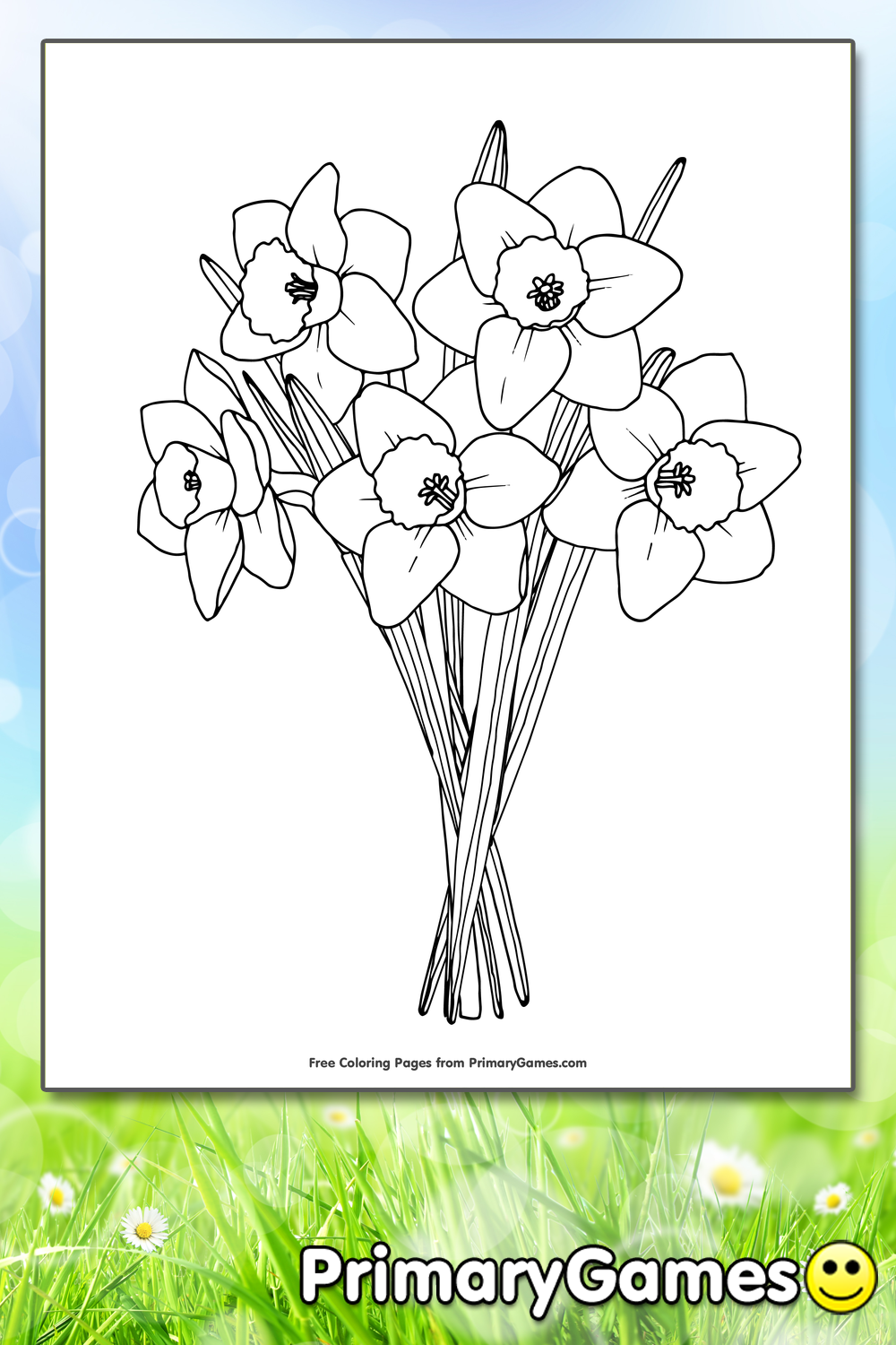 Daffodils Coloring Page Free Printable Pdf From Primarygames