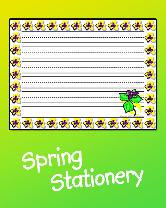 Spring Stationery • Free Online Games At PrimaryGames