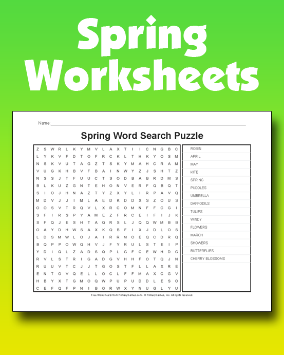 Spring Worksheets Free Online Games at PrimaryGames