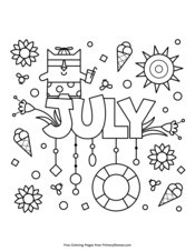 Summer Coloring Pages • Free Printable Coloring Books