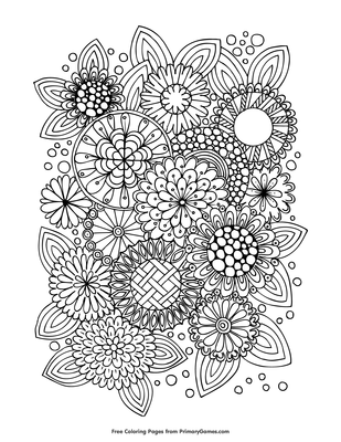 Summer Flowers Coloring Page Free Printable Pdf From Primarygames