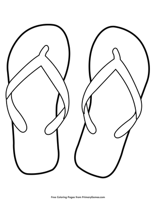 We Hope You Enjoy Our Online Coloring EBooks Download Or Print Out This Flip Flops Page To Color It For Free