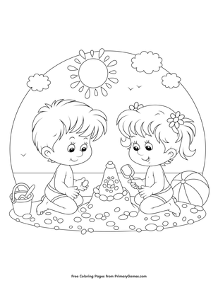 Anime Boy and Girl coloring page | Free Printable Coloring Pages | 400x309