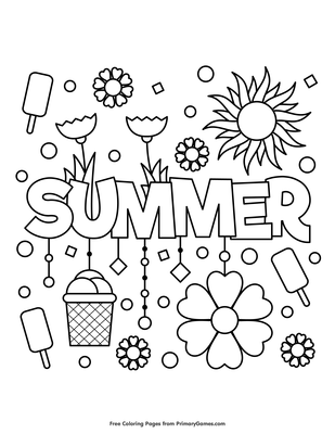 Summer Coloring Page Free Printable Pdf From Primarygames