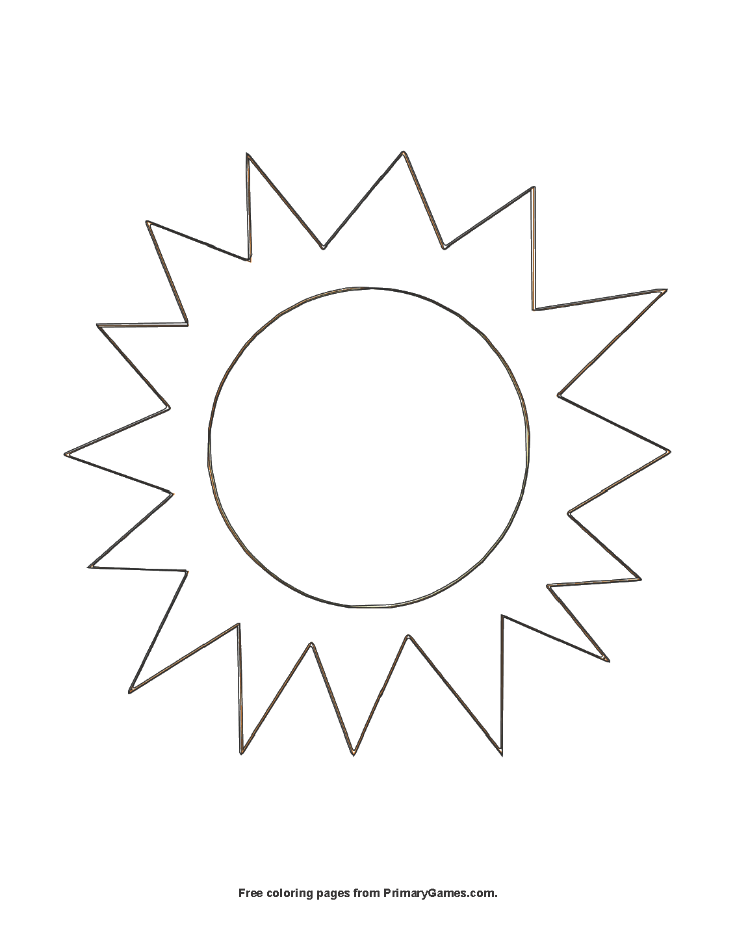 The Sun Coloring Page Printable Summer Coloring Ebook