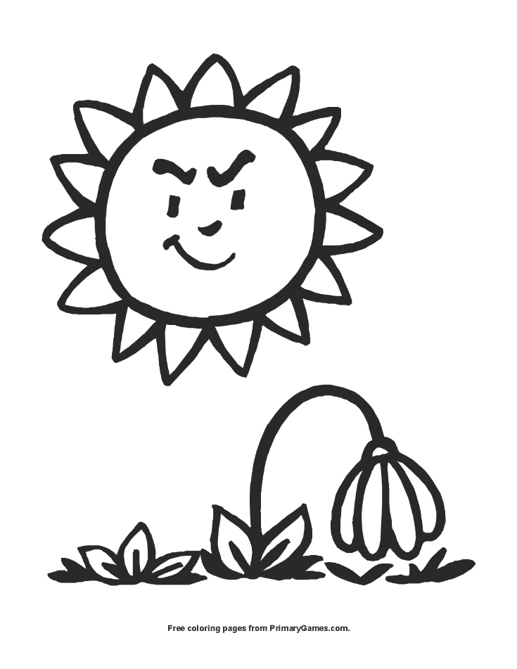 Wilting Flower Coloring Page | Printable Summer Coloring ...