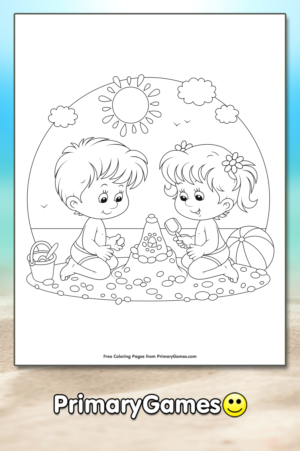 boy summer coloring pages - photo#50