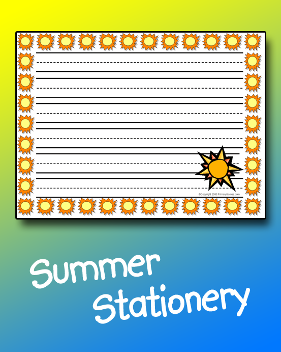 Summer Stationery Primarygames Play Free Online Games