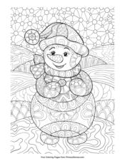Zentangle Snowman