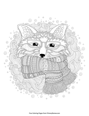 Top 25 Free Printable Fox Coloring Pages Online | 400x309